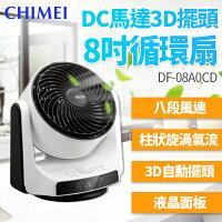 CHIMEI奇美 電風扇推薦到【防疫通風就靠我】CHIMEI奇美 8吋DC直流3D立體擺頭循環扇 DF-08A0CD就在怡和行推薦CHIMEI奇美 電風扇