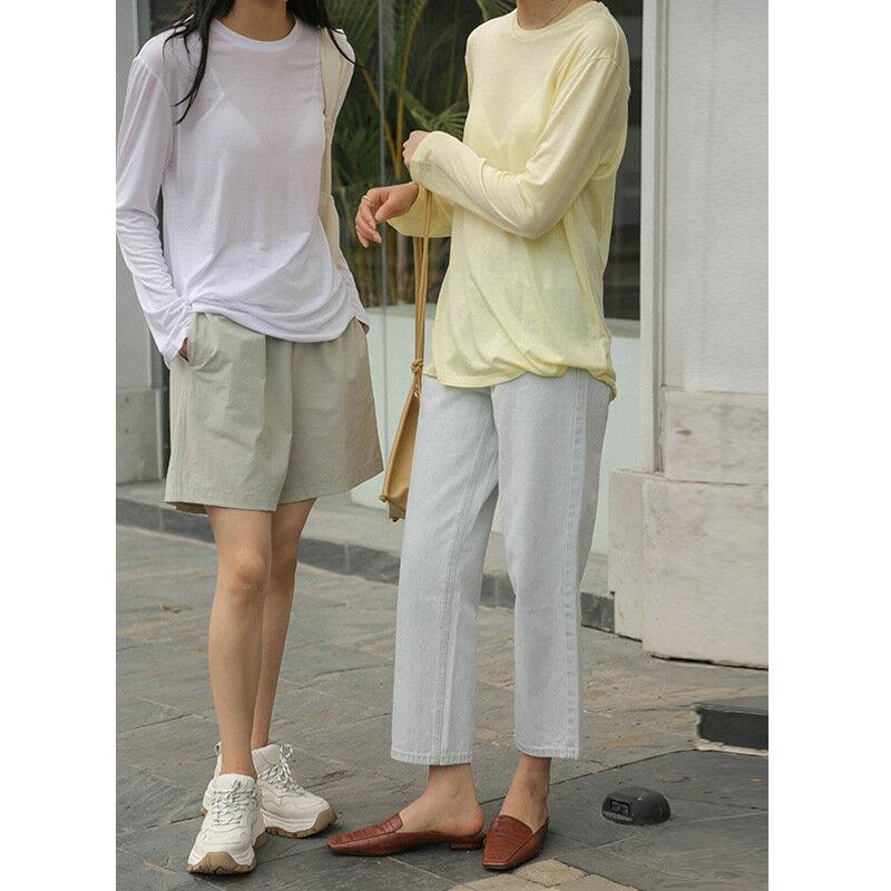 2021夏季新款韓版高腰抽繩鬆緊腰短褲寬鬆舒適顯瘦休閒褲