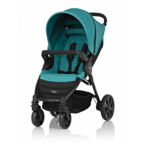 Britax - B-Agile單手收豪華四輪手推車 -翡翠藍 (附前扶手) 加購Britax - Baby-Safe提籃享特價優惠!