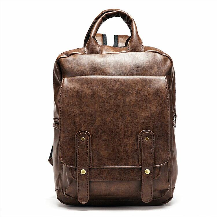 【5折超值價】潮流時尚復古日系簡約百搭休閒商務後背包