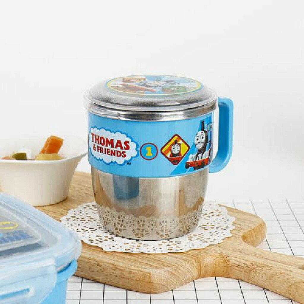 X射線【C702092】湯瑪士藍色304不鏽鋼隔熱杯附蓋韓國製,開學必備/水杯/漱口杯/牙刷杯/Disney/THOMAS