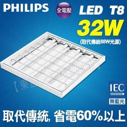 飛利浦 PHILIPS LED 32W 輕鋼架 餐廳 廚房 【東益氏】售23W歐司朗 東亞 吸頂燈 層板燈 漢堡燈
