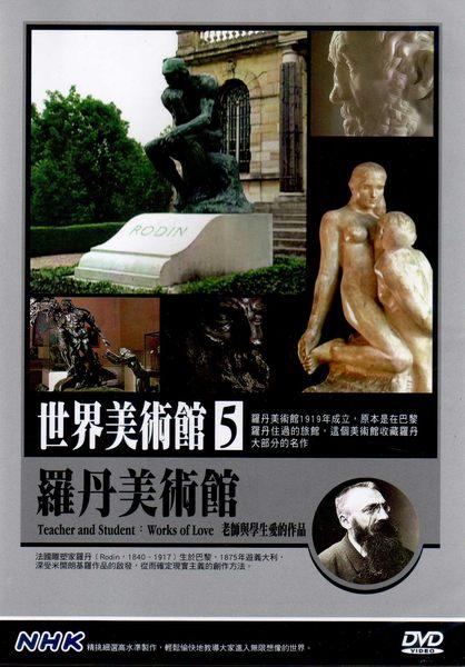 世界美術館 5 羅丹美術館 DVD 老師與學生愛的作品 NHK ^(音樂影片購^) ~