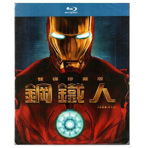 鋼鐵人 雙碟版 藍光BD Iron Man心靈獨奏福爾摩斯小勞勃道尼Tron創光速戰記傑夫布里吉(音樂影片購)