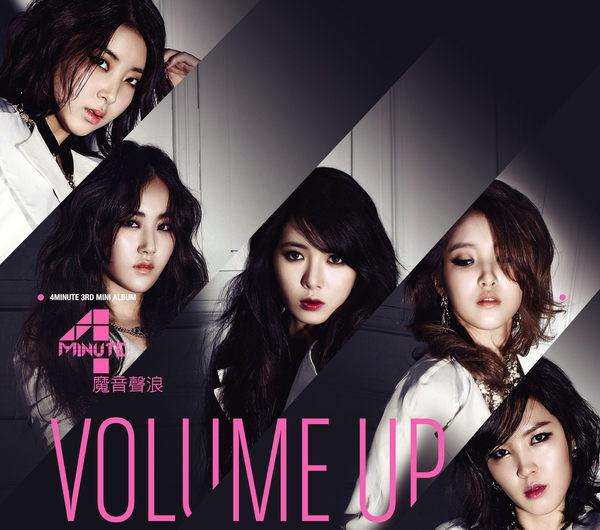 4MINUTE VOLUME UP 魔音聲浪 CD 第三張迷你專輯 FEMME FATALE BLACK CAT (音樂影片購)