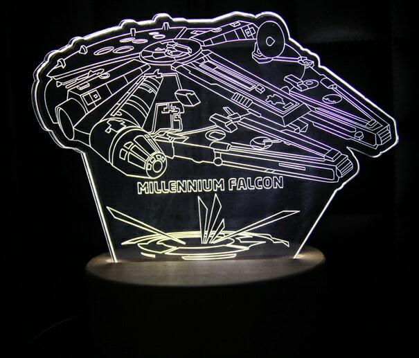 LED 造型 3D 立體燈 千年鷹號 Star Wars 星際大戰 星戰迷不可錯過 小夜燈 氣氛燈 生日禮物 禮物
