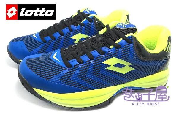 【巷子屋】義大利第一品牌-LOTTO樂得 男款夜鷹科技蓄光戶外籃球鞋 [2536] 藍/螢光綠 超值價$790