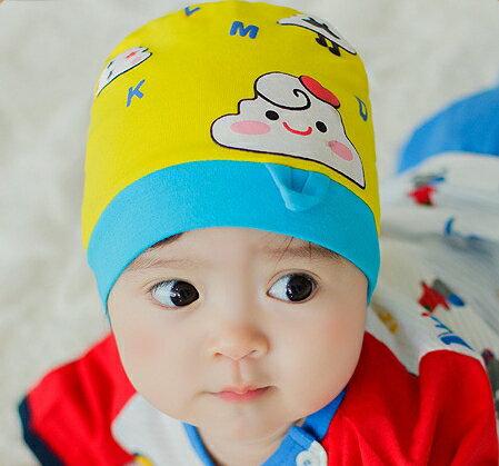 Lemonkid◆可愛雲朵舒適彈性兒童扭結套頭帽~黃色