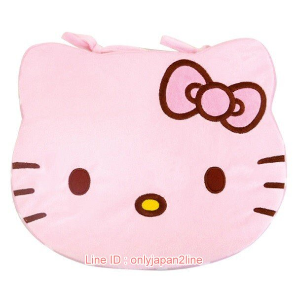 【真愛日本】17020600003造型坐墊-KT大頭點點粉  三麗鷗 Hello Kitty 凱蒂貓  居家 靠墊 坐墊