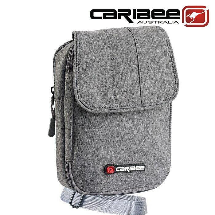Caribee 側背護照錢包/護照包/隨身小包/出國旅遊 Travel Grip 灰色 CB-1218