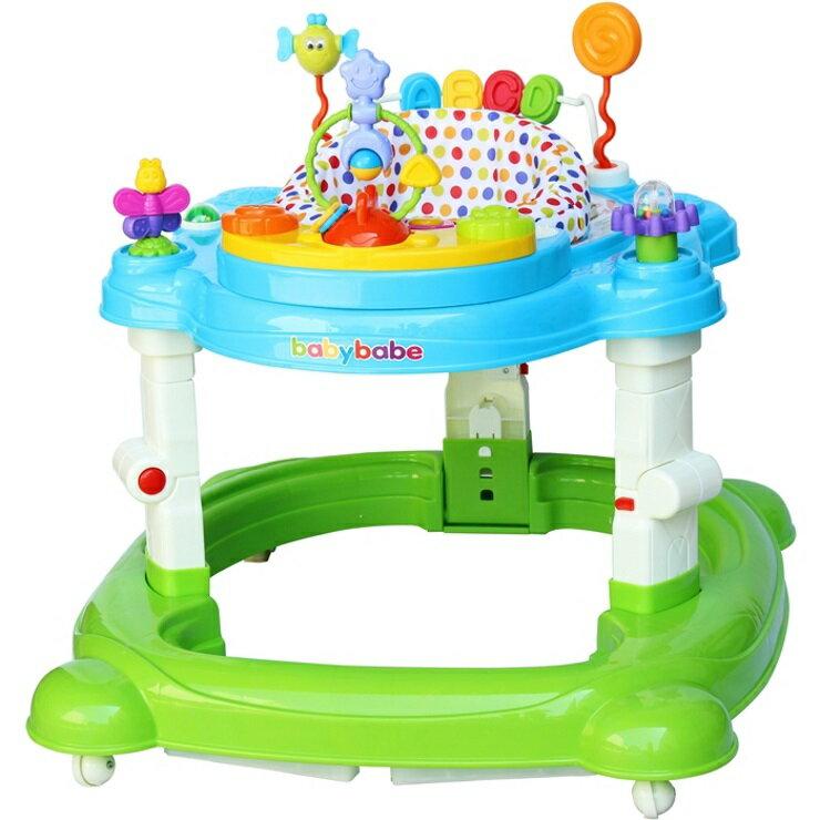 【寶貝樂園】BabyBabe四合一嬰幼兒學步車~可當搖馬~是學步車也是彈跳椅