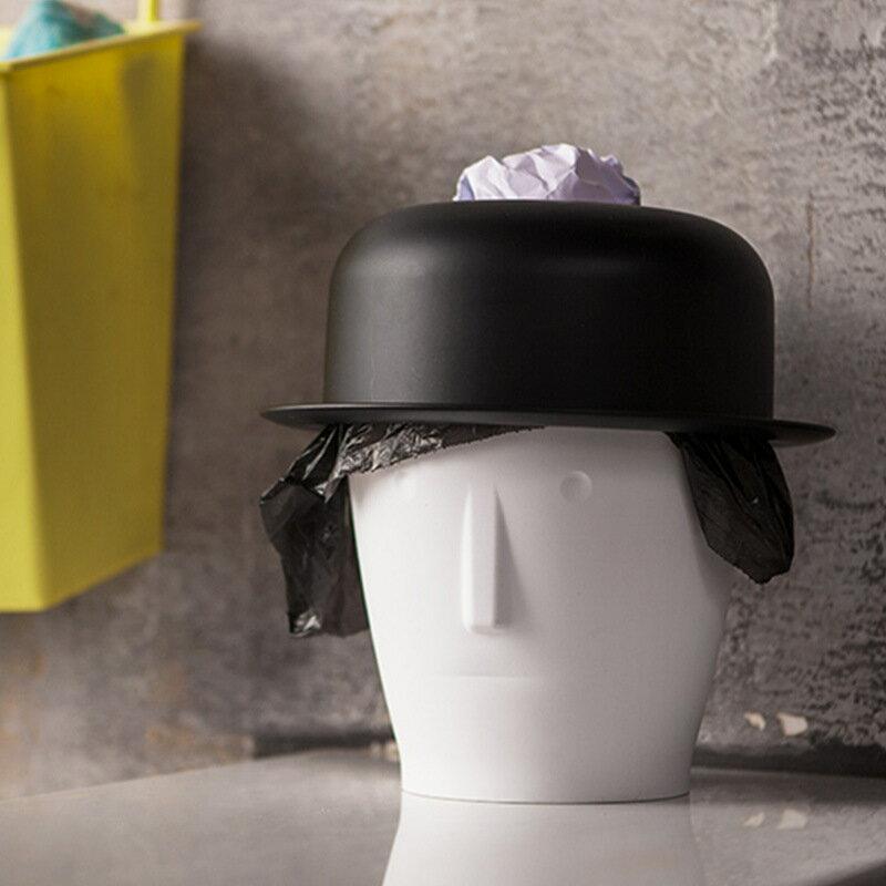 紳士兩用迷你桌面垃圾桶 捲筒衛生紙筒