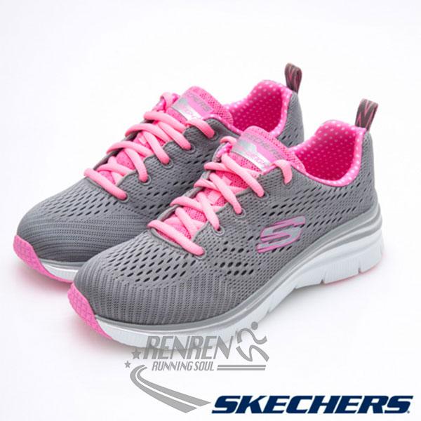 SKECHERS 女運動鞋  Fashion Fit (灰*粉) 時尚休閒系列