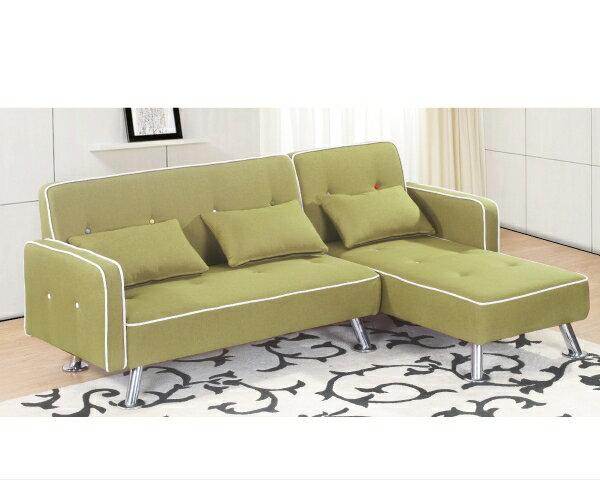 沙發【YUDA】 艾曼達 實木 左L 綠皮 L型沙發 皮沙發 J8F 180-4