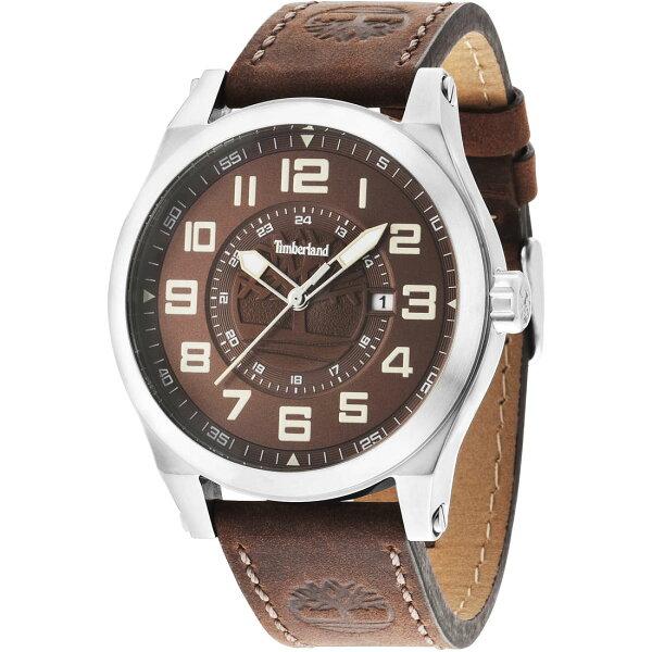 Timberland天柏嵐TBL.14644JS12帥氣咖啡時尚腕錶黑面45mm