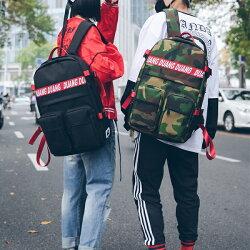 美式休閒字母牛津布配色大容量男女雙肩後背包(5色) X RUNWAY FASHION ICON