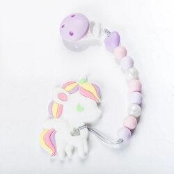 【全面降9折】台灣【Sweet Little Monster 】咬咬珠紫羅蘭獨角獸固齒器