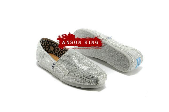 [女款] 國外代購TOMS 帆布鞋/懶人鞋/休閒鞋/至尊鞋 亮片系列  銀色 2