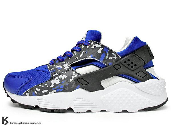 2015 台灣未發售 1992 經典鞋款 重新復刻 NIKE HUARACHE RUN PRINT GS 女鞋 寶藍黑白 豹紋 網布 透氣 輕量 慢跑鞋 韓風 韓流 AIR (704943-400) !