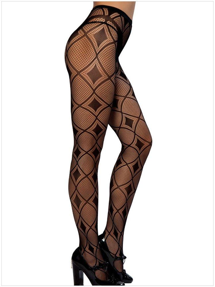 魚網菱形圖案特色風格 修身長腿絲襪褲襪 79702