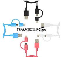 Team WC02 Lightning/Micro USB 二合一傳輸充電線(MFi) 傳輸線 電源線 充電線 傳輸線