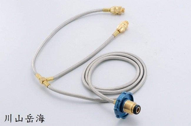 [ Wen Liang 文樑 ] 瓦斯桶雙孔轉接器 / 高山瓦斯轉桶裝瓦斯轉接頭(一對二)/ ST-2003