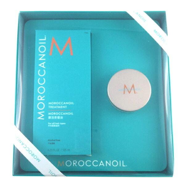 摩洛哥優油「禮盒組」護髮油一般型125ml+經典芭特身體乳50ml