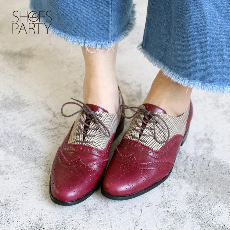 【C2-17121L】外尖內圓真皮綁帶牛津鞋_Shoes Party 3