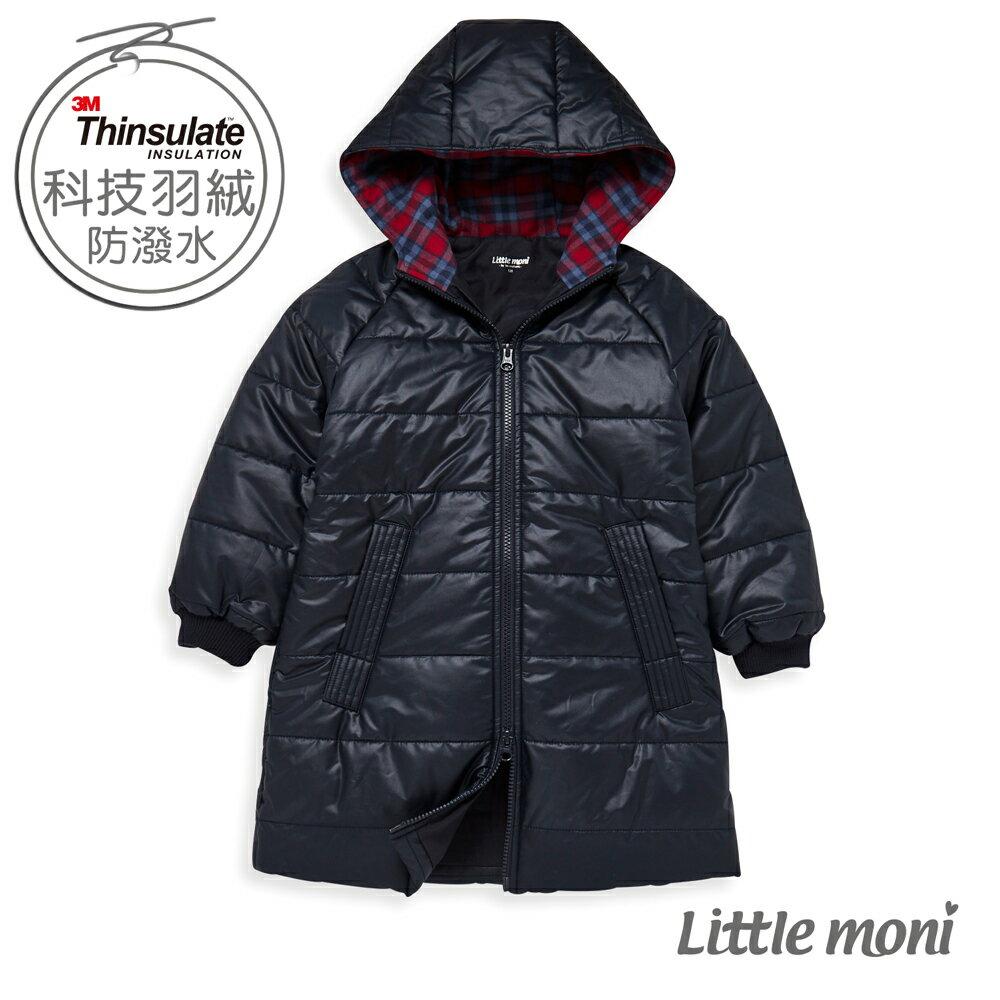 Little moni 3M科技羽絨保暖長版外套-深藍(好窩生活節) 0