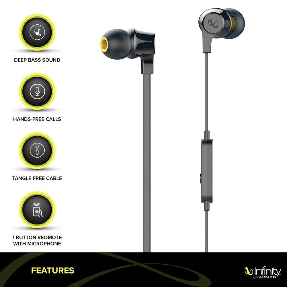志達電子 WYND300 INFINITY WYND 300 立體聲耳道式耳機麥克風 智慧型手機 扁平式防打結線設計
