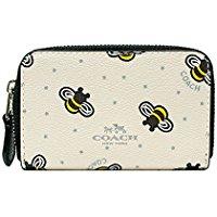 COACH素色/蜜蜂薄款零錢卡包