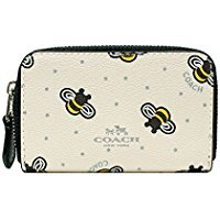 【COACH】季節限定素色蜜蜂薄款零錢卡包F25885(3色)【全店免運】ARIBOBO艾莉波波