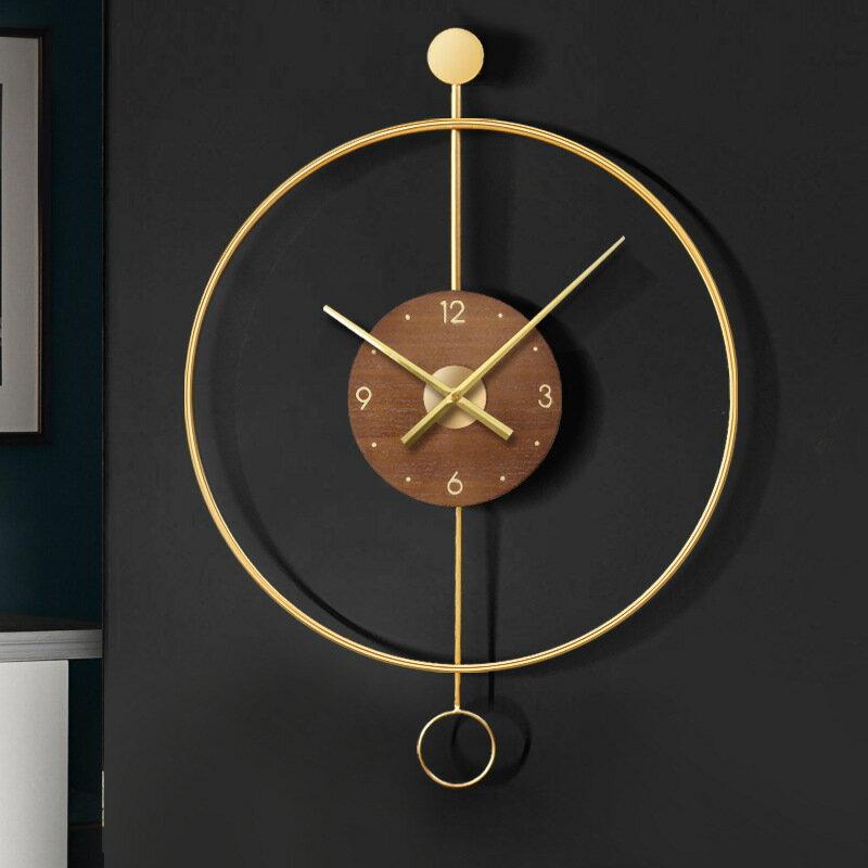 簡約簡約現代時鐘掛鐘客廳家用時尚輕奢鐘錶裝飾鐘創