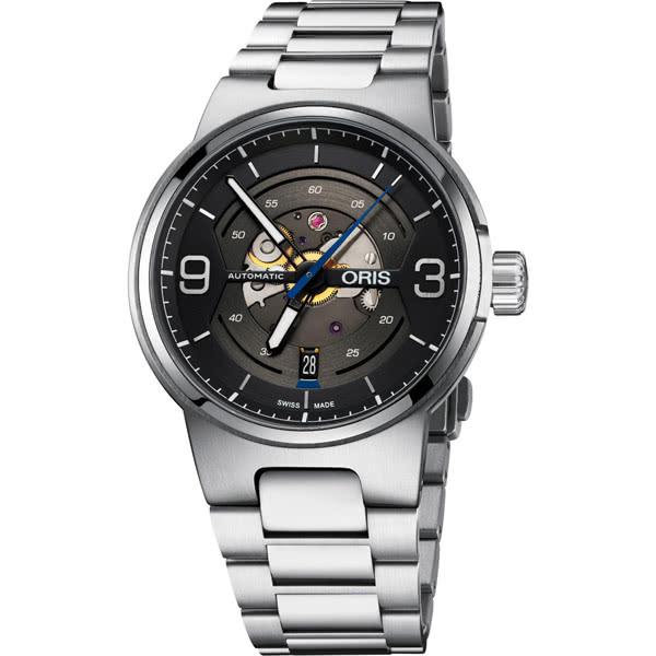 領卷享優惠】ORIS 豪利時 0173377164164-0782450賽車系列 簡約日期運動腕錶 黑 42mm
