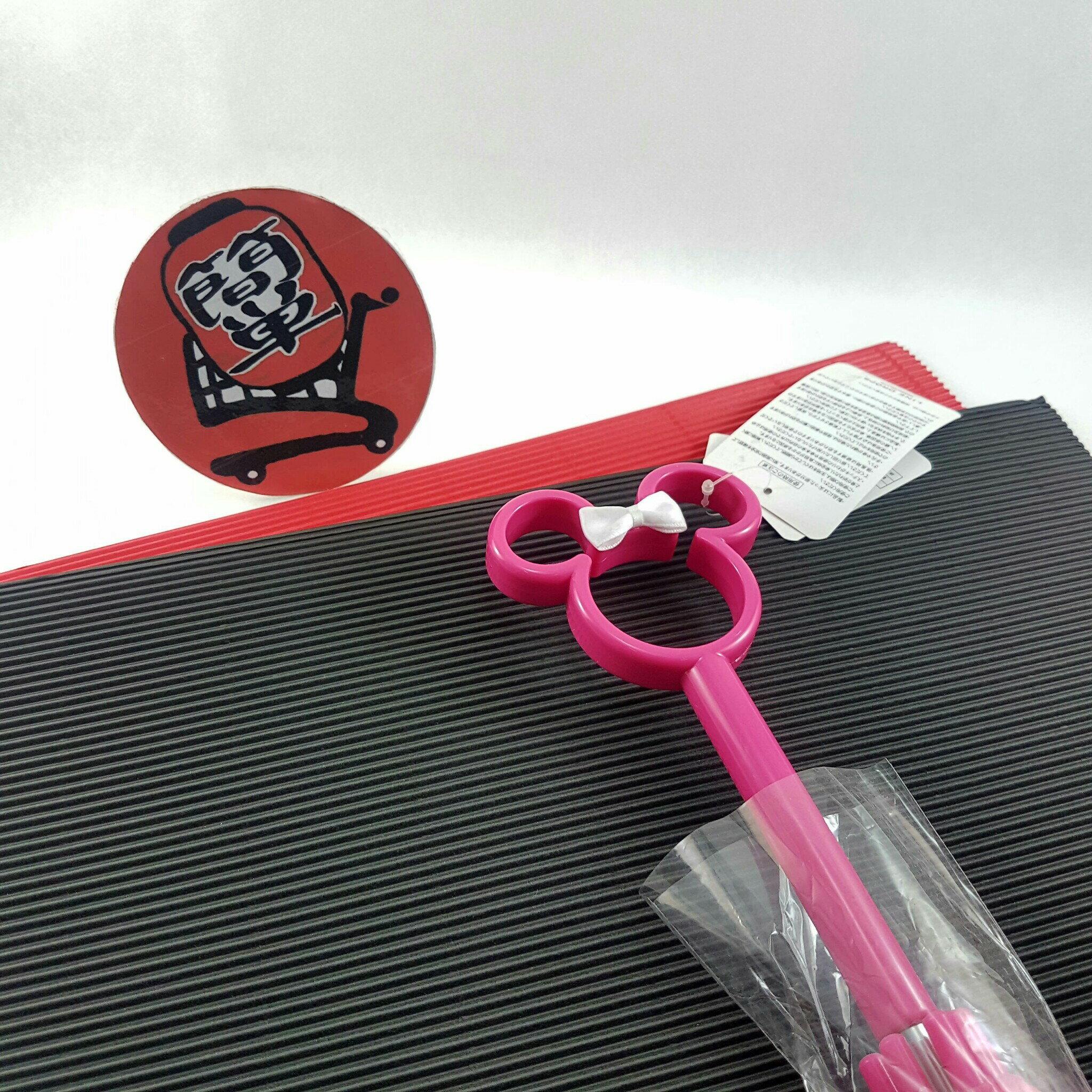 『簡?全球購』粉柄滿版米妮款 日本 迪士尼 米妮鏤空造型把手 透明直傘 雨傘