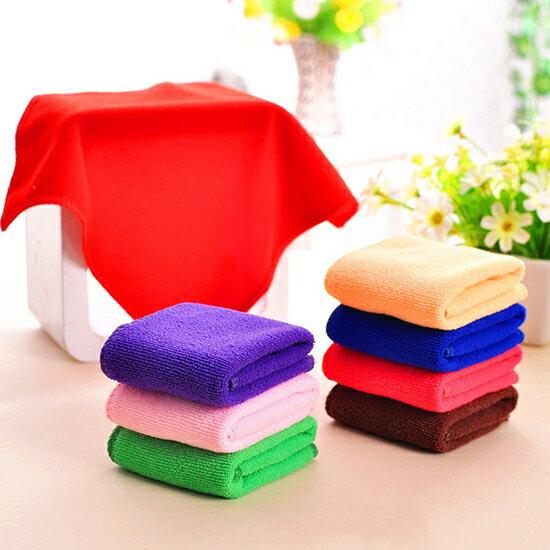 ♚MY COLOR♚超細纖維吸水毛巾25x25 批發 小方巾 洗碗巾 贈品 毛巾 擦手巾 洗手台 廚房 柔軟【P604】