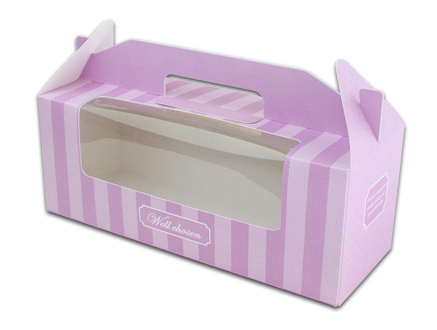 外帶盒、包裝盒、手提盒  3格提盒 MS-3-A(紫色布紋)5 pcs附底托