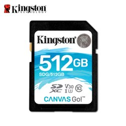 金士頓 512G Kingston Canvas Go! SDHC UHS-I U3 4K 記憶卡 保固公司貨