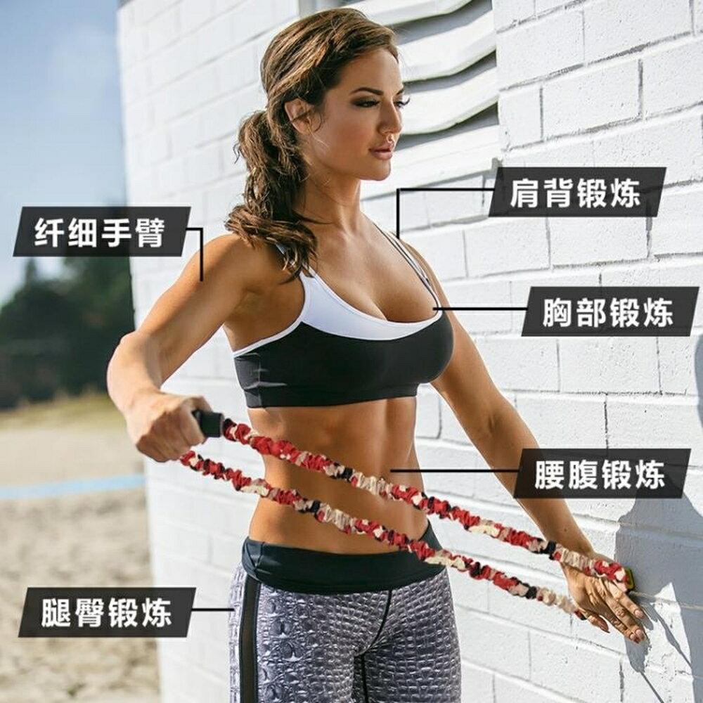 拉力器家用健身開肩背拉力神器胸肌臂男女運動8字拉力器擴胸器材彈力繩全館免運 維多