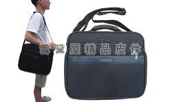 ~雪黛屋~YESON 肩背大容量台灣製造品質保證YKK拉鍊零件提肩側工具樣品包個人行李登機袋大型可A4資料夾Y86003