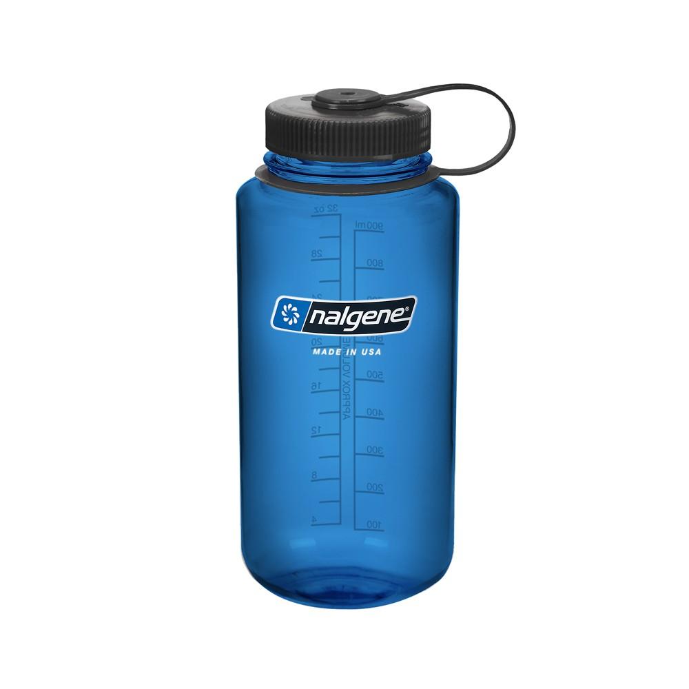 美國【Nalgene】大寬口水壺-灰藍色(1000cc)-美國價格即將調漲
