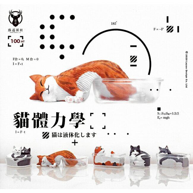 全套5款【正版授權】貓體力學 扭蛋 轉蛋 模型 神奇貓咪 貓咪液體化 喵星人 路遙圓創 - 709068