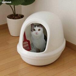❥IRIS 簡易半封閉式 貓便盆 貓砂屋 貓廁所 防落砂 500F 三色
