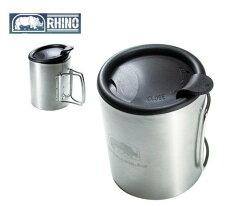 【H.Y SPORT】犀牛RHINO KS-21不鏽鋼斷熱杯320cc 咖啡杯 隔熱杯 登山露營