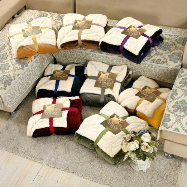糖衣子輕鬆購【DZ0380】頂級羊羔絨毛毯雙層加厚法蘭絨毯子空調毯沙發毯秋冬保暖蓋腿毯