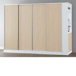 【石川家居】Ishikawa系統板材 LU-413-9 系統10尺推門衣櫃+邊櫃 此款商品已含安裝費用恕不折扣