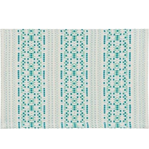 《NOW》棉質織紋餐墊(綠點)