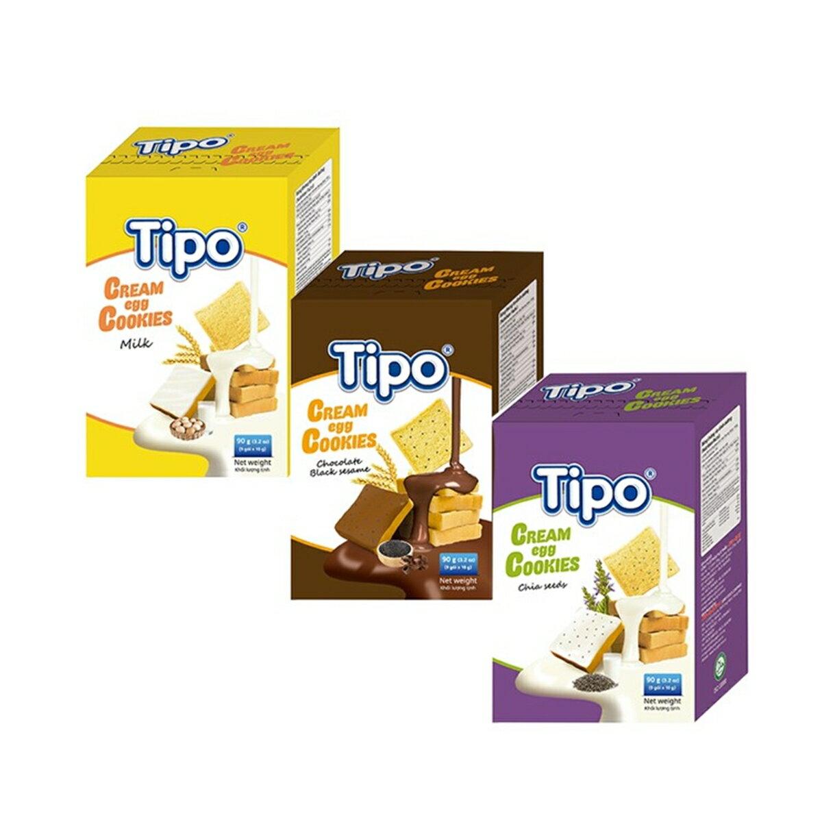 ☆Tipo雞蛋吐司餅 牛奶 芝麻巧克力 奇亞籽 [928福利社]
