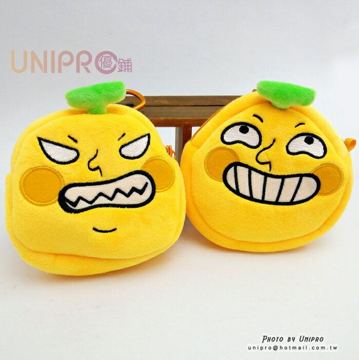 【UNIPRO】香蕉人 Banana Man 賊笑 憤怒 表情 絨毛 伸縮票卡夾 正版授權 零錢包 悠遊卡套 票夾