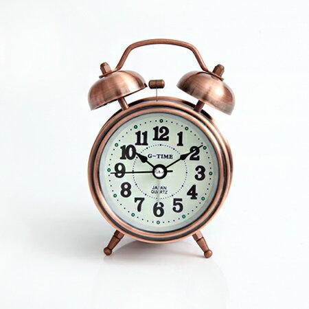 鬧鐘 古銅大聲公夜光面板座鐘 [NV9] 柒彩年代